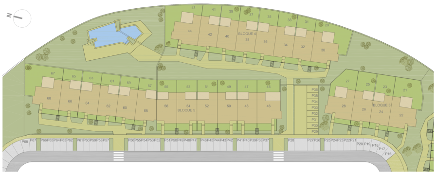 Click to enlarge - Azure Apartments Layout